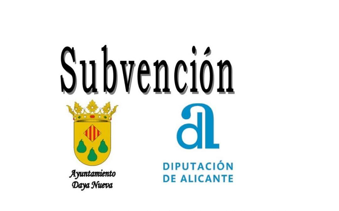 SUBVENCIÓN Otorgada por la Excma. Diputación Provincial de Alicante, para Minimizar el Impacto Económico por la COVID-19
